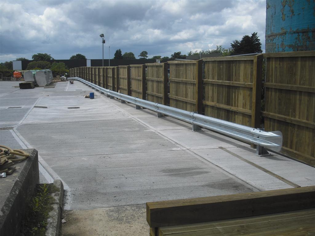 Crash barrier in Taunton
