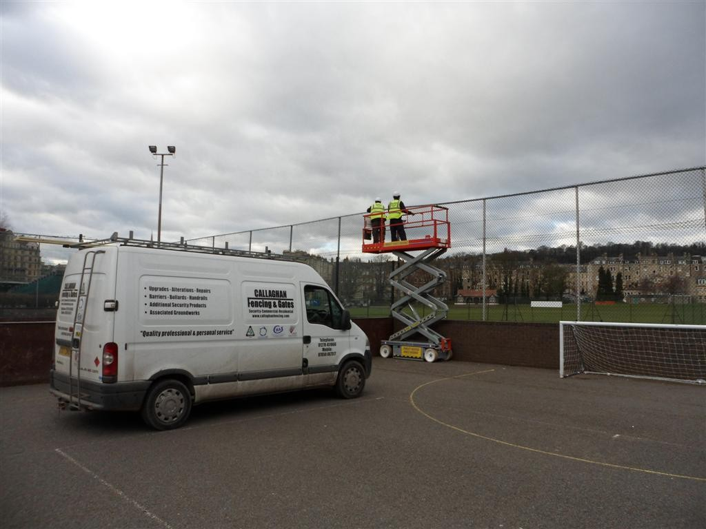 SPORTS FENCING REPAIRS AT BATH SPORTS CENTRE