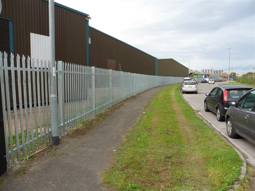Steel palisade fencing in Taunton