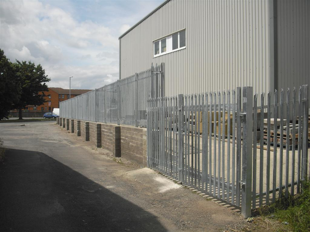 Steel palisade in Bridgwater