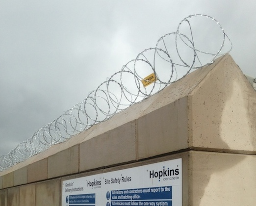 RAZOR WIRE, BRISTOL, BATH, EXETER, AVONMOUTH, YEOVIL, HIGHBRIDGE, SOMERSET