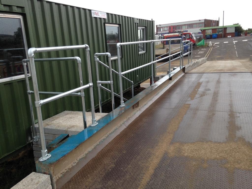 Tube clamp handrails in Bristol