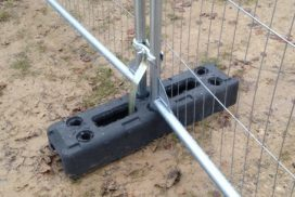 TEMPORARY MESH SECURITY FENCING