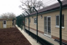 Fencing contractor services in Yeovil, Somerset.