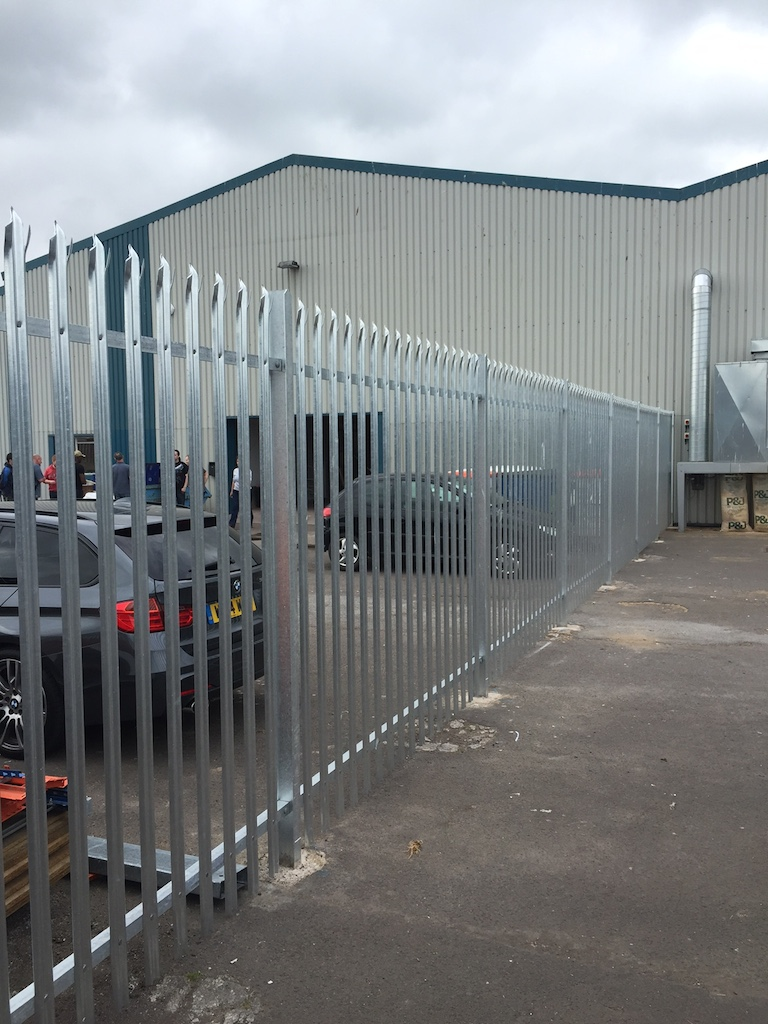 Steel palisade security fencing contractors Somerset