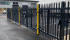Steel palisade compound installed with matching gates