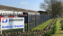 2m high steel palisade fencing for business premises in Somerset