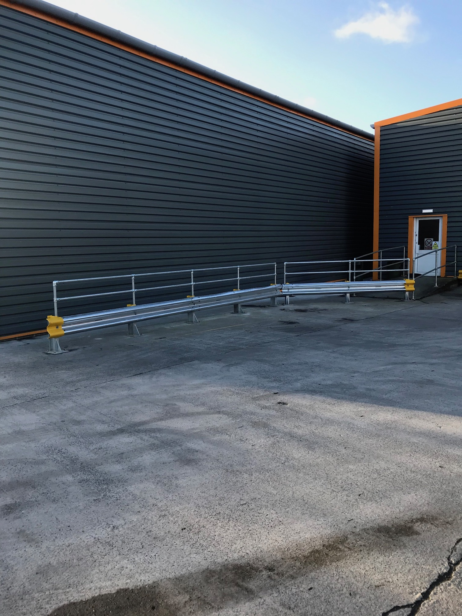 Service yard crash barrier installations in Somerset