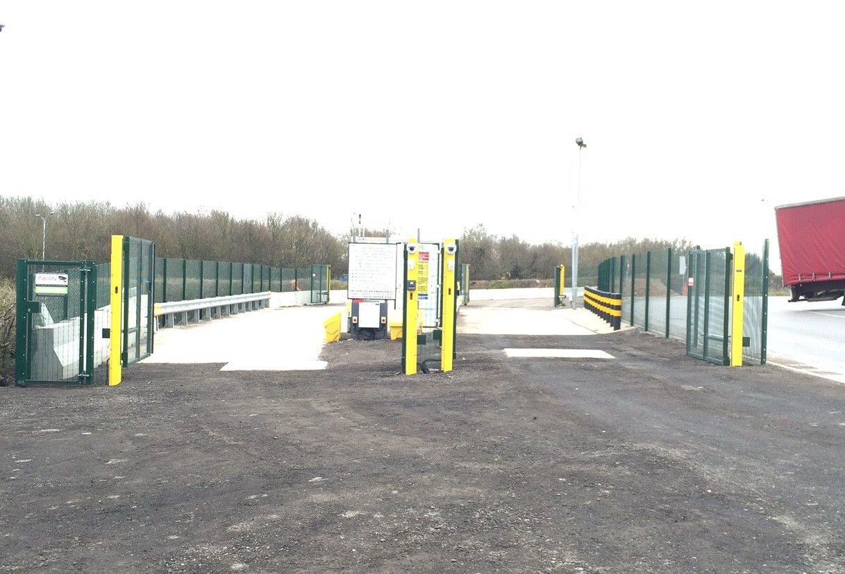 Prison mesh security fencing & automated gates & all ground works Gasrec jct 24 Bridgwater