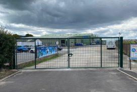 Mesh security gates in Weston Super Mare